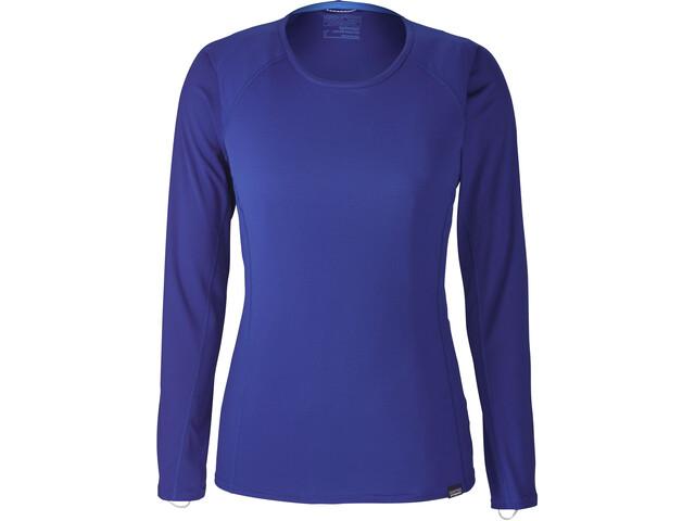 Patagonia Capilene Lightweight Crew LS Shirt Women Cobalt Blue